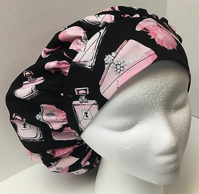 Pink High Heels Size Large Medical Bouffant OR Scrub Cap Surgery Hat