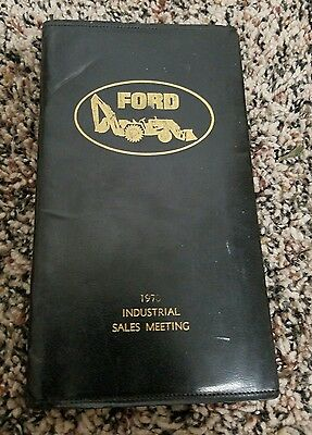 1970 FORD tractor  industrial sales meeting notepad book