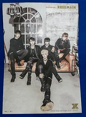 KNK - Remain (2nd Mini Album) Official Unfolded Posters Hard Tube Case Kpop