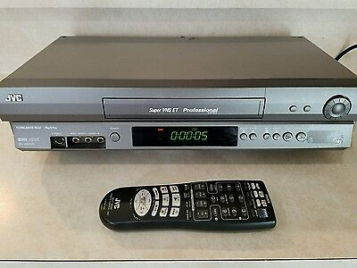 JVC SR-V101US Super VHS S-VHS Professional VCR Transfer to DVD & Remote CLEAN