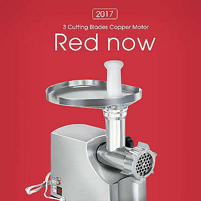 1800W Electric Meat Grinder Home Commercial Stainless Steel Sausage Stuffer