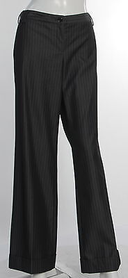 Women's THE LIMITED Black & White Polyester Blend Dress - Flat Front Pant Size 8