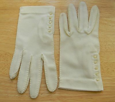 Vintage Classic Fownes Nylon Gloves--Creamy White--Size 7.5--Excellent Shape