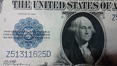1923 $1 ONE DOLLAR SILVER CERTIFICATE LARGE NOTE CURRENCY***Stunning Note****.