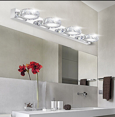 Modern LED Acrylic Bathroom Front Mirror Lights Toilet Wall Mounted Lamps Lights