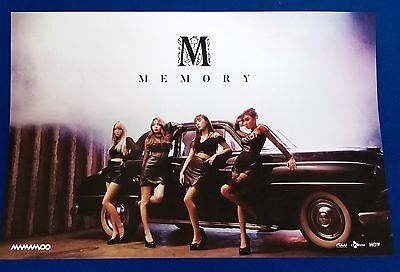 Mamamoo - Memory (4th Mini Album) Official Unfolded Posters Hard Tube Case Kpop