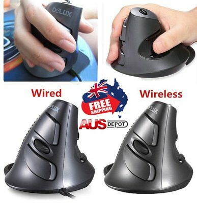 M618 Portable Size Ergonomic Design Wireless/Wired Vertical Shape Game Mouse LOT