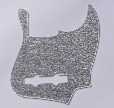 Silver Sparkle 5 String Jazz J Bass Pickguard Scratch Plate for American Fender