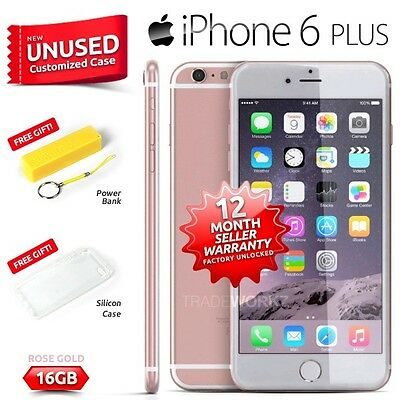 New Sealed Factory Unlocked APPLE iPhone 6 + Plus Rose Gold 16GB 4G Smartphone