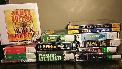 Lot of 13 Unabridged Audio Books CD Fiction Novels Thrillers Mystery