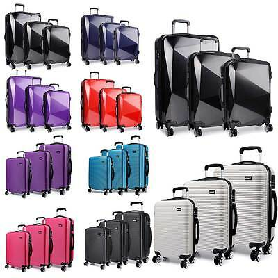 KONO Travel Luggage Wheel Trolleys Suitcase Bag Hard Shell PC Diamond