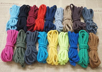 90 Meter Cotton Rope Sash Cord Twine Natural Cotton 8 Strand 5mm 18 Colors DIY