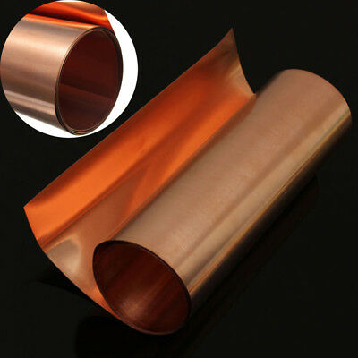 New 99.9% Pure Copper Sheet Plate Options Guillotine Cut 0.1mm,0.2mm,0.5mm Thick