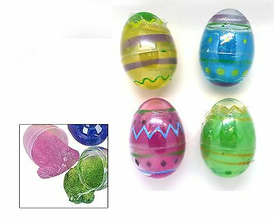 Kids Glitter Putty Easter Egg Hunt Sensory Game Prize Party Bag Filler