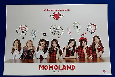 Momoland - Welcome To Momoland Official Unfolded Posters Hard Tube Case Kpop