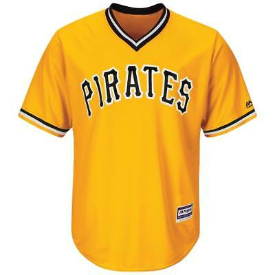 Majestic Pittsburgh Pirates Cool Base MLB Trikot Classic Gelb