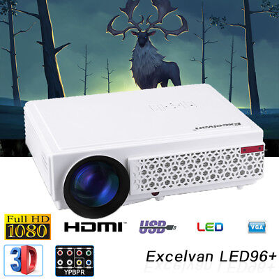 1500Lumens Mini 1080P HD LED Android WiFi Proiettore Home Cinema per Laptop PC