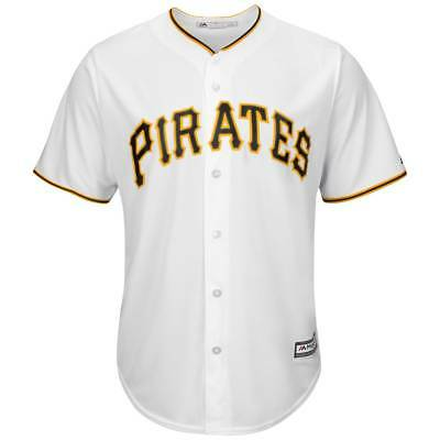 Majestic Pittsburgh Pirates Cool Base MLB Trikot Home Weiß