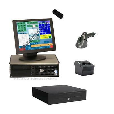 One Station Retail TOUCH SCREEN POS System & Software With Creditcard Processing