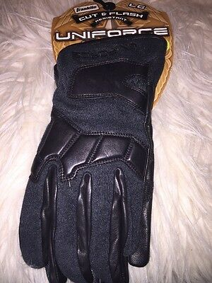 Franklin Uniforce Special Ops Gloves (Black, L) -Cut/Flash Resistant, Short Cuff