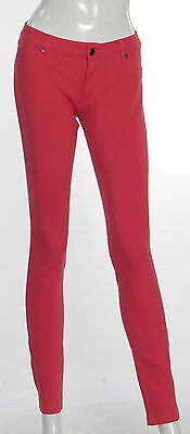 Women's TIMING Red Rayon Blend Skinny Pants Size Large