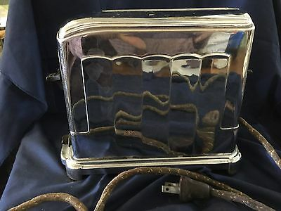 Vtg Art Deco McGraw Electric Co. Toastmaster Chrome Toaster I Slot Model 1A4
