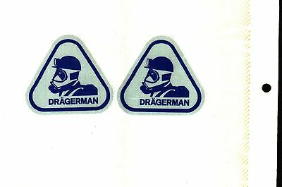 2 Nice Dragerman Mine Rescue Coal Mining Stickers # 1