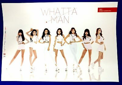 I.O.I -  Whatta Man (1st Single) Official Unfolded Posters Hard Tube Case Kpop