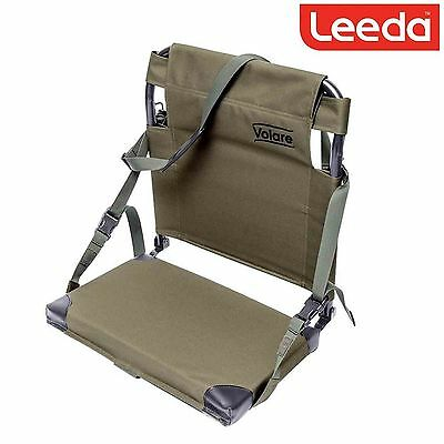 Leeda Volare Folding Boat Fishing Seat with Shoulder Strap Easy Transport Seat