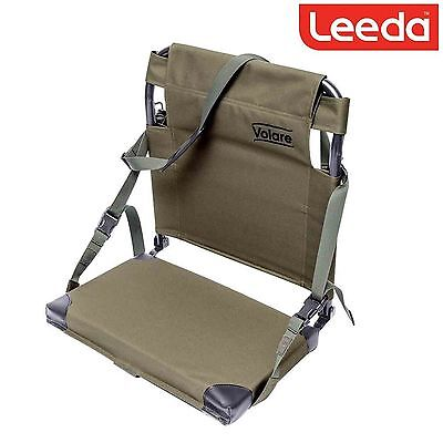 2 x Leeda Volare Folding Boat Fishing Seat Shoulder Strap Easy Transport Seat
