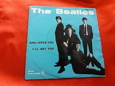 DISCO 45 giri  - The Beatles ‎– She Loves You - ORIGINALE 1963 - made in italy