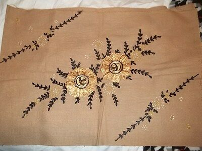 Antique Embroidered Flowers