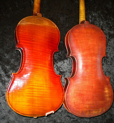Old Antique Violins 1 Piece Back Early 1900's German