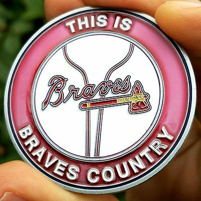 PREMIUM MLB Atlanta Braves Poker Card Protector Collector Coin Golf Marker NEW