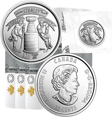 2017 Canada Two 25cent Coins Quarters 125th Anniv. Stanley Cup from Special Wrap