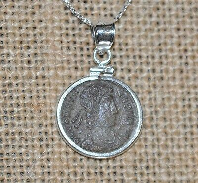 Constantine The Great House Authentic Roman Coin 925 Sterling Silver Necklace
