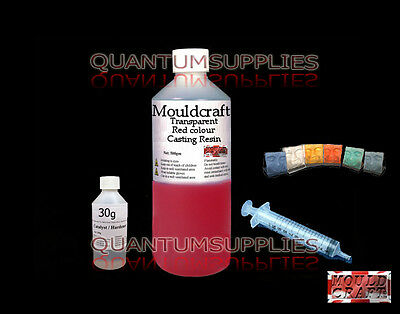1kg MOULDCRAFT TRANSPARENT RED COLOUR CASTING RESIN KIT USE WITH JEWELLERY