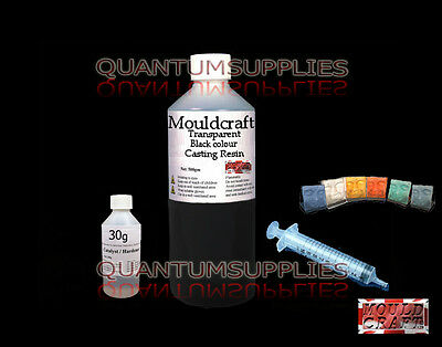 1kg MOULDCRAFT TRANSPARENT BLACK COLOUR CASTING RESIN KIT USE WITH JEWELLERY