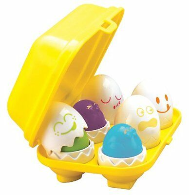 TOMY Hide N Squeak Eggs Play to Learn Baby Toddler Toy Hide and Squeak - E1581