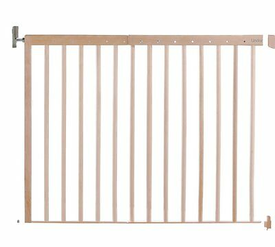 Lindam Extending Extra Wide Opening Wooden Safety Gate Bizzie Baby Silver Award