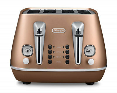 Delonghi Distinta Collection CTI4003.CP Copper Finish 4 Slice Toaster