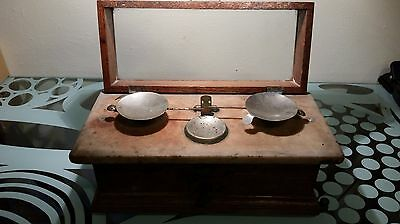 Henry Troemner Apothecary Balance Scale Pharmacy Oak Marble Glass Class-B