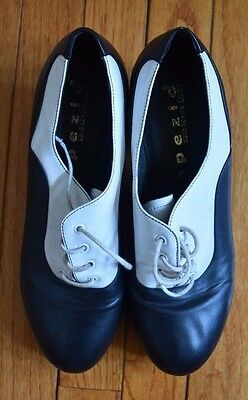 Women's CAPEZIO Black and White Oxford Wing Tip Tap Dance Shoes