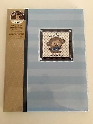 Carters THANKS HEAVEN FOR LITTLE BOYS  Keepsake Memory Baby Book Birth to 5
