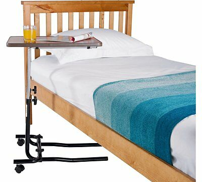 Adjustable Overbed Transportable Table with Tilt Facility Strain Reach Belonging