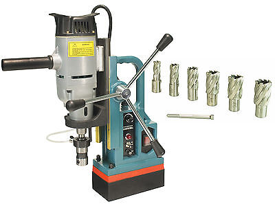 """Steel Dragon Tools® MD45 Magnetic Drill Press with 7PC 1"""" HSS Cutter Kit"""