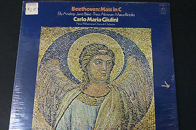 LP: Beethoven Mass in C New Philharmonia Chorus & Orchestra Giulini Angel