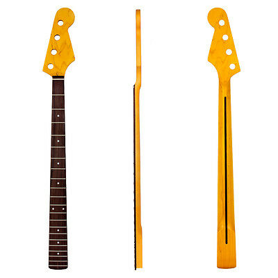 Electric Bass Guitar Neck For 4 String JB Parts Maple Rosewood Fretboard 21 Fret