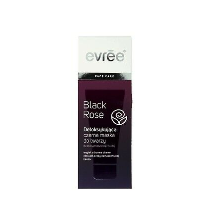Evree Black Rose Detoxifying Black Face Mask for Oily and Mixed Skin 75ml