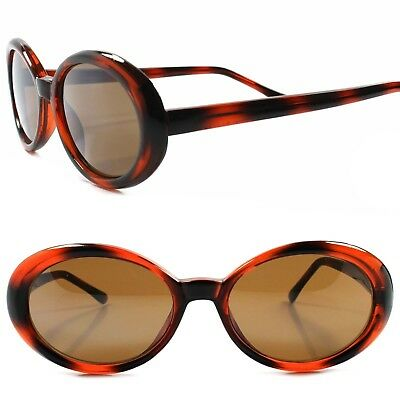 f225deab9a6 Classic Genuine Vintage Deadstock Mirrored Lens Black   Brown Oval  Sunglasses